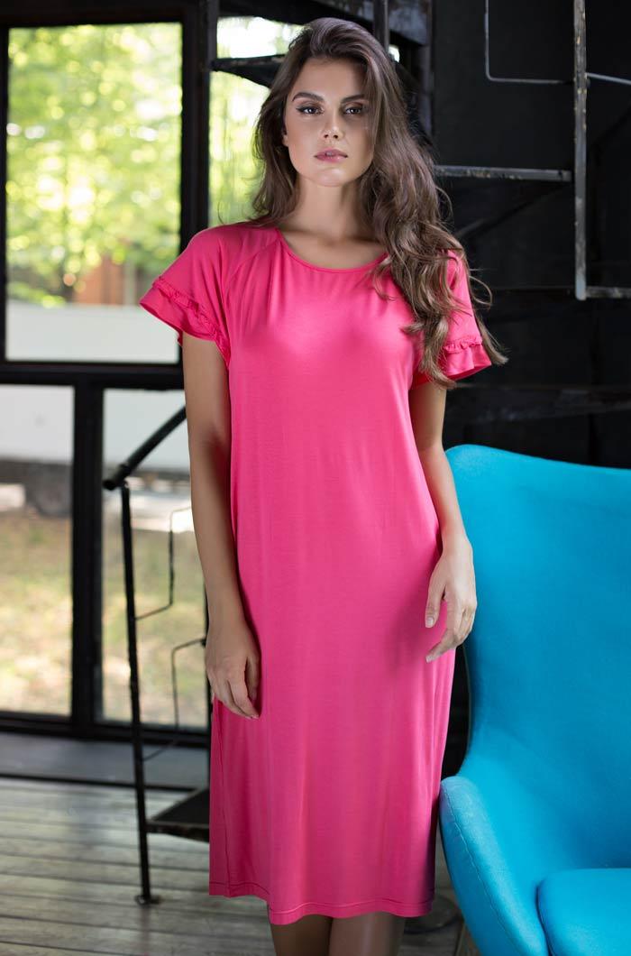 Ночные сорочки Mia-Mia Ночная сорочка Gemma Цвет: Коралловый (M) сорочка и стринги soft line mia размер s m цвет белый