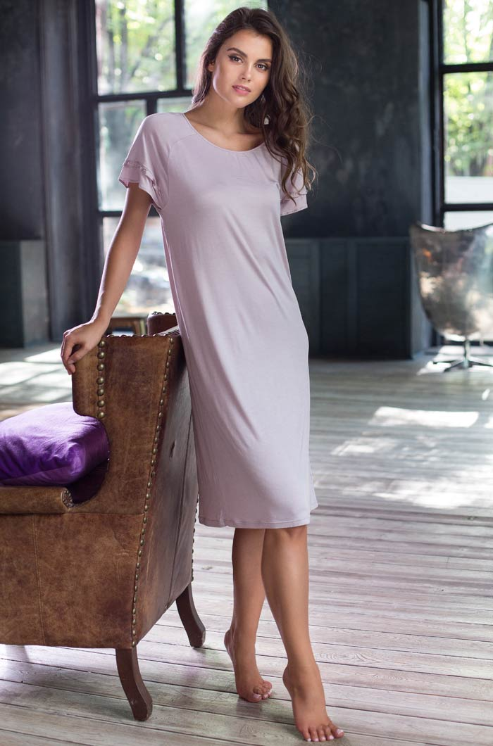 Ночные сорочки Mia-Mia Ночная сорочка Gemma Цвет: Лаванда (M) сорочка и стринги soft line mia размер s m цвет белый