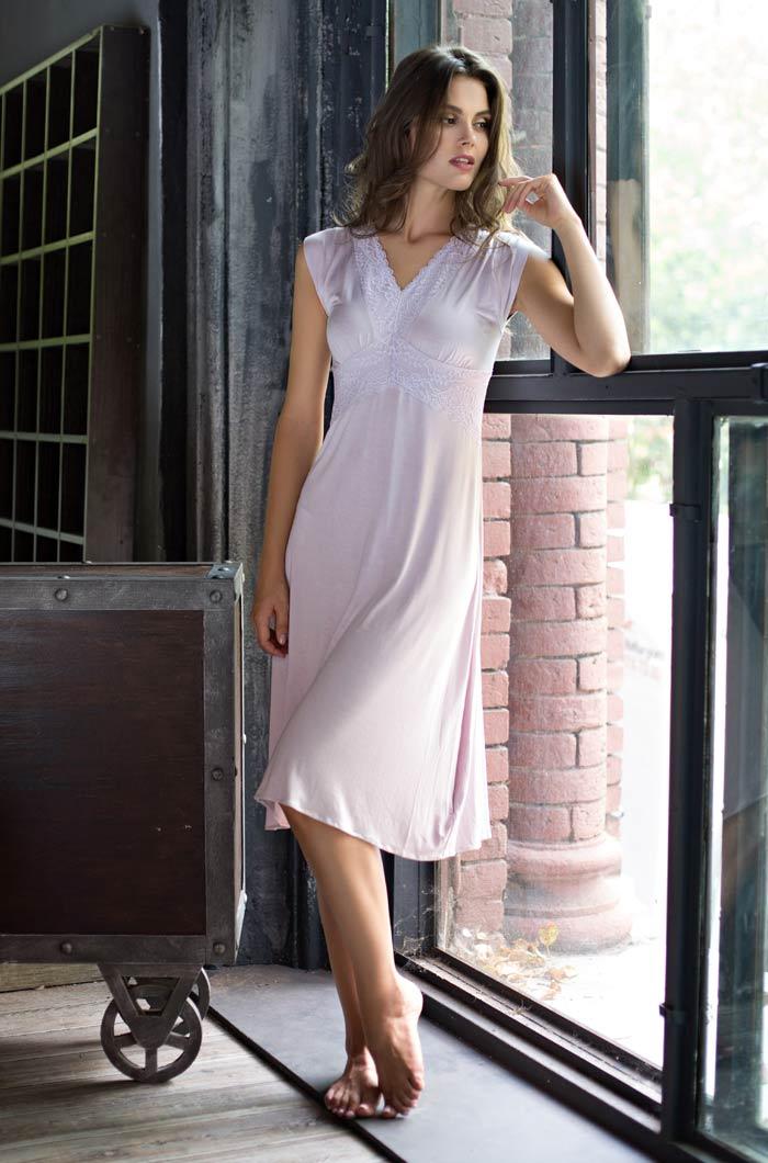 Ночные сорочки Mia-Mia Ночная сорочка Gemma Цвет: Лаванда (xL) ночные сорочки hello moda ночная сорочка