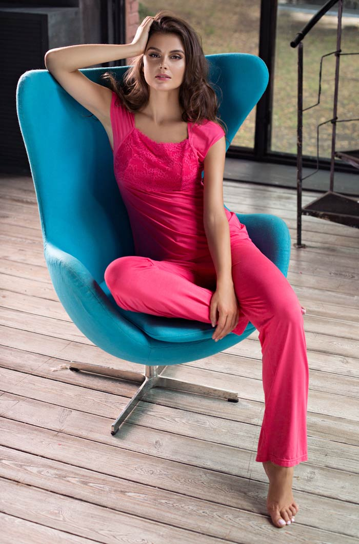 Пижамы Mia-Mia Пижама Gemma Цвет: Коралловый (S) пижамы mia cara пижама paulina цвет сиреневый s