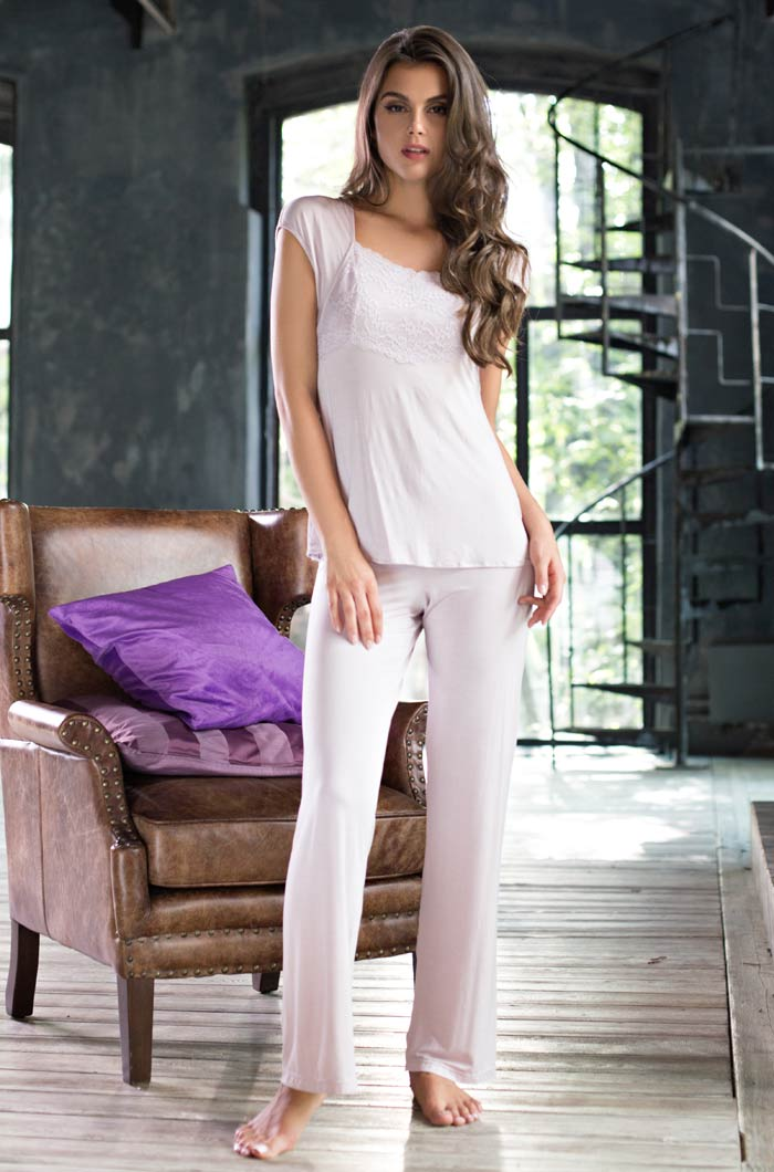 Пижамы Mia-Mia Пижама Gemma Цвет: Лаванда (M) пижамы mia cara пижама paisley цвет розовый m l