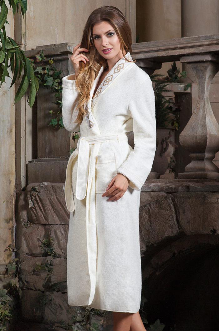 Сауны, бани и оборудование Mia-Mia Халат Regina Цвет: Ваниль (L) домашние халаты mia mia домашний халат yesenia xl