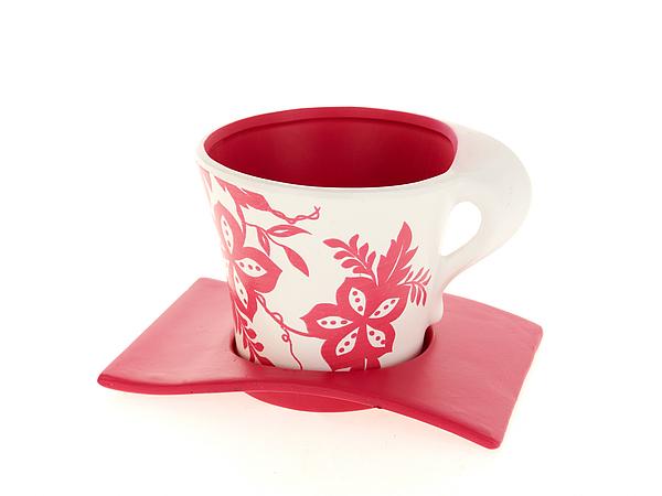 {} ENS GROUP Горшок с поддоном Розовый Узор (11х13 см) ens group горшок для цветов осень набор