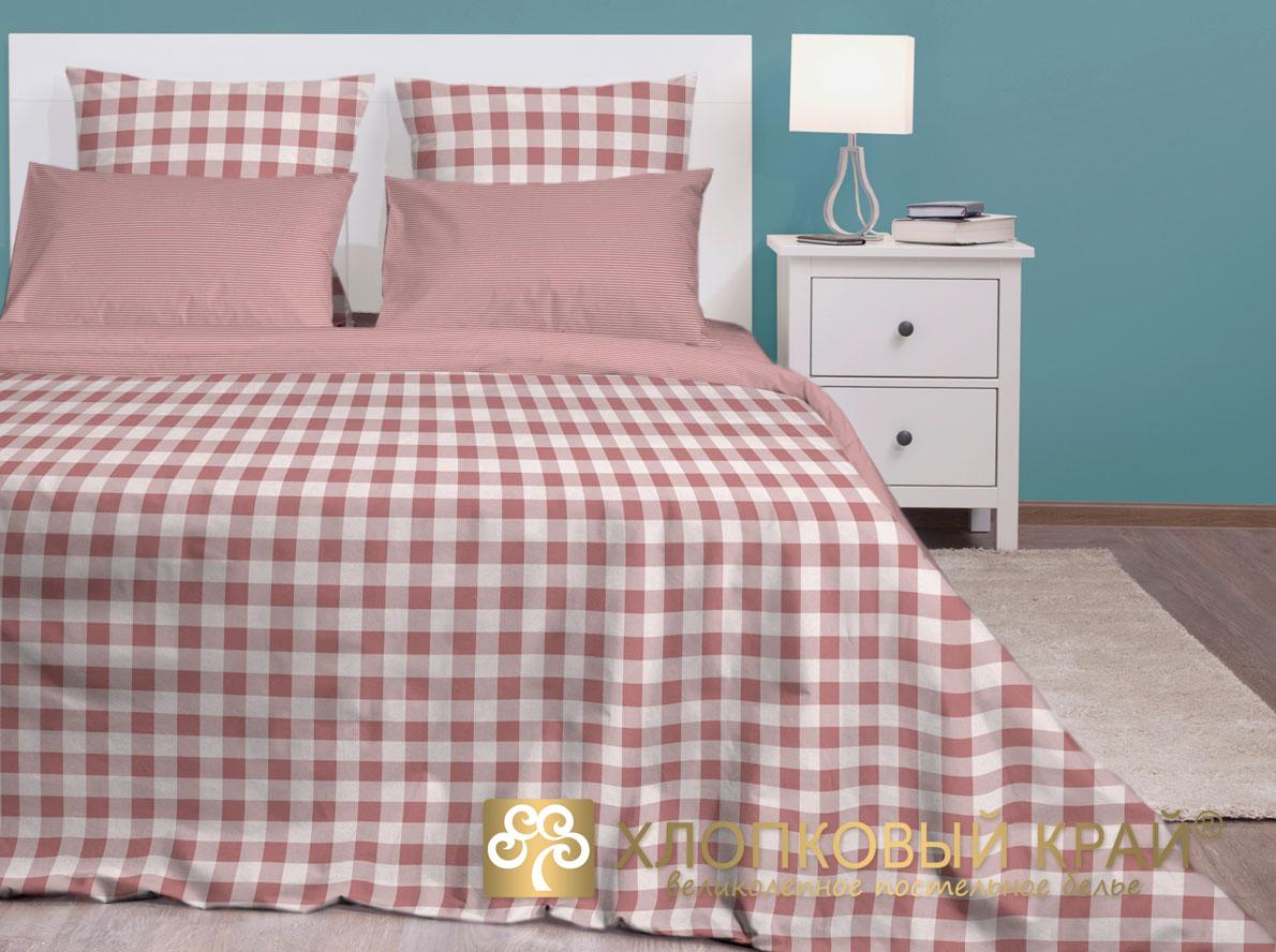 Постельное белье Хлопковый Край Постельное белье Дерби Цвет: Марсала (2 спал.)