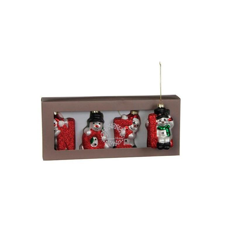 {}  Набор шаров NOEL Цвет: Красный (4х5х8 см) набор шаров 60мм 20шт стекло золото коричневый