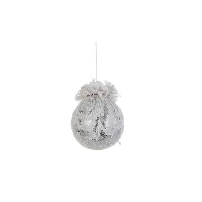 {} Шар Кружевной Цвет: Белый (7 см) шар мухомор 7 см