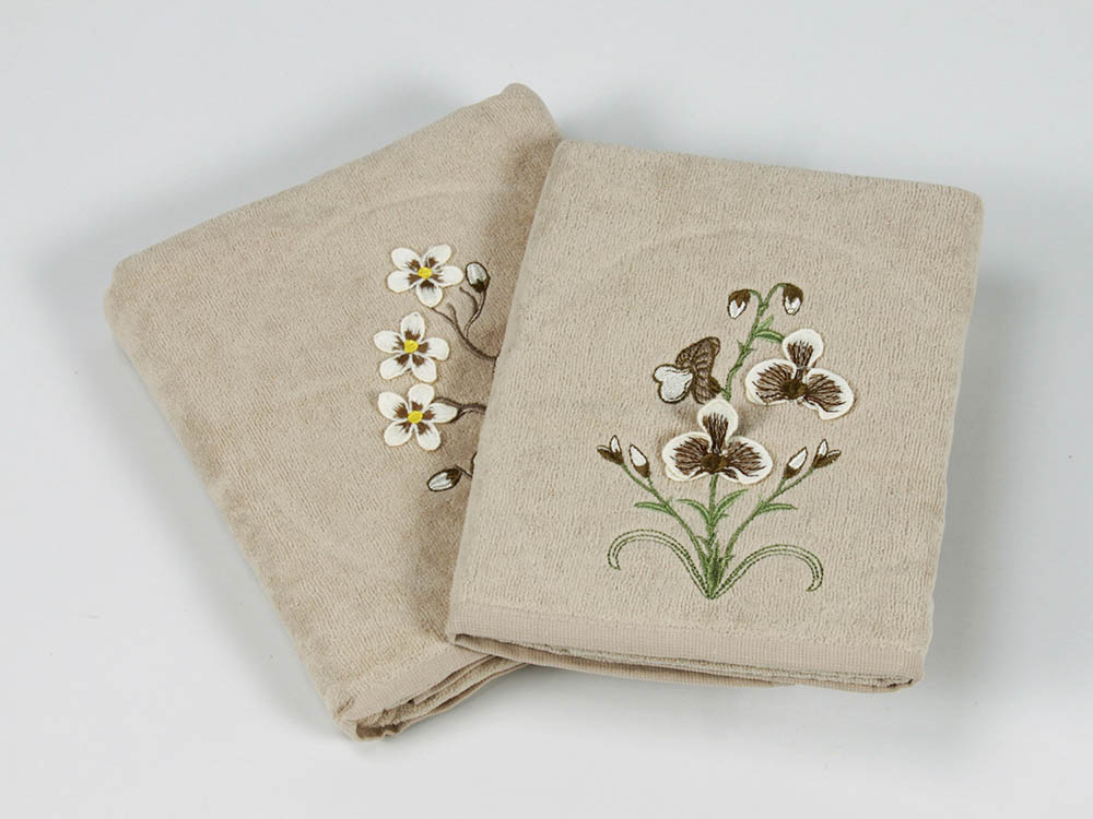Полотенца Cottonist Полотенце 3D Kadife (Набор) набор из 3 полотенец merzuka sakura 50х90 2 70х140 8432 оранжевый