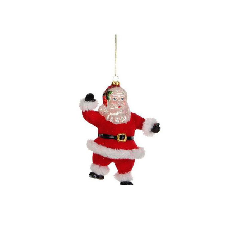 {}  Шар Санта Клаус (7х11х15 см) шар плетение 7 7 см