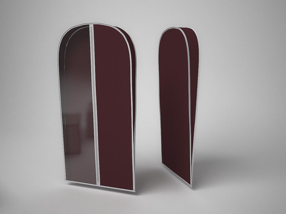 {} CoFreT Чехол для одежды Классик Цвет: Бордовый (10х60х130 см)