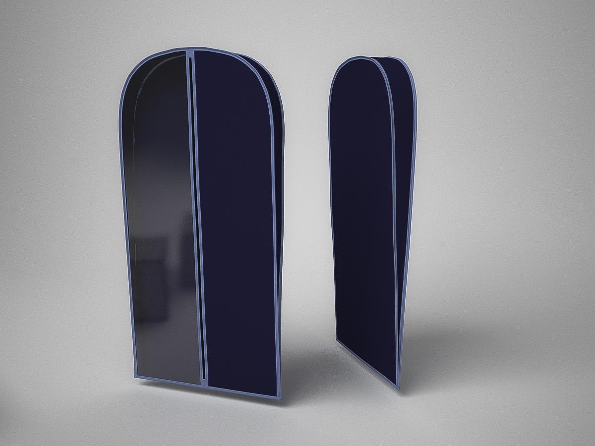 {} CoFreT Чехол для одежды Классик Цвет: Синий (10х60х130 см)
