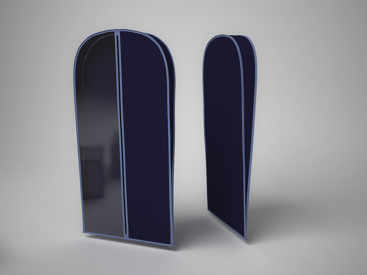 {} CoFreT Чехол для одежды Классик Цвет: Синий (10х60х160 см)