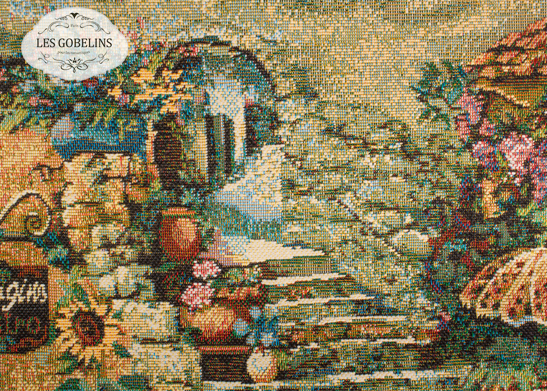 где купить Покрывало Les Gobelins Накидка на диван Jardin D'Eden (130х200 см) по лучшей цене