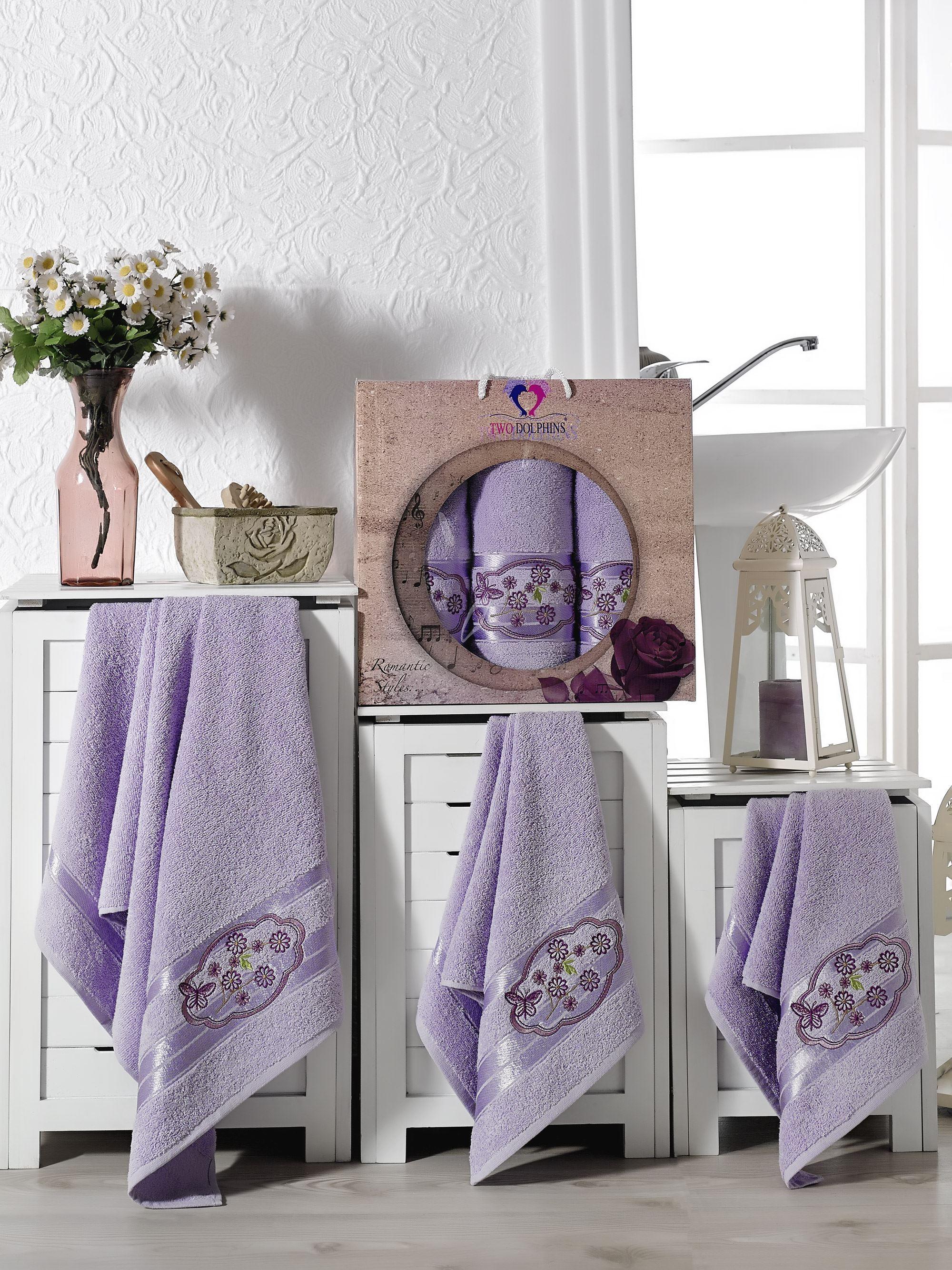 Полотенца Two Dolphins Полотенце Romantic Styles Цвет: Лиловый (50х90 см - 2 шт,70х140 см) набор из 3 полотенец merzuka sakura 50х90 2 70х140 8432 терракотовый