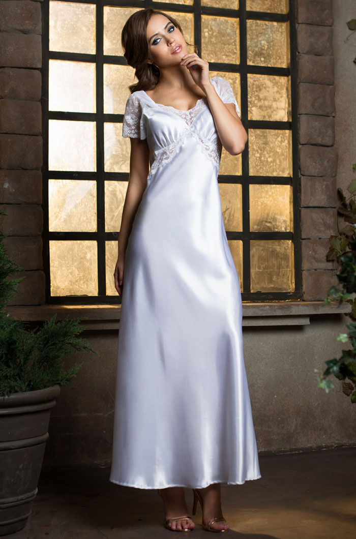 Ночные сорочки Mia-Mia Ночная сорочка Lady In White (L) сорочка короткая mia mia lady in white белая m