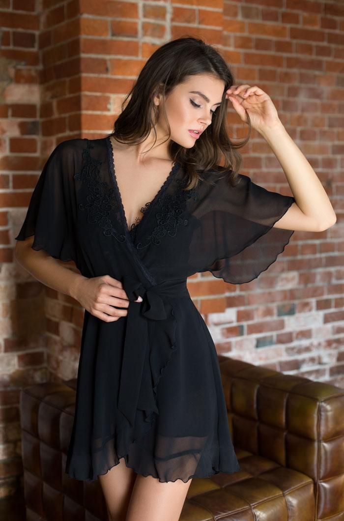 Домашние халаты Mia-Mia Домашний халат Venera Цвет: Черный (xS) домашние халаты mia mia домашний халат agata xl