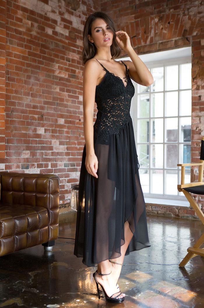Ночные сорочки Mia-Mia Ночная сорочка Venera Цвет: Черный (xxL) ночные сорочки mia mia ночная сорочка cleopatra xxl