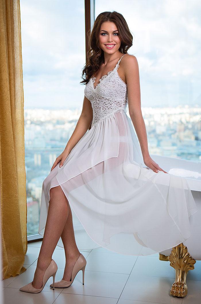 Ночные сорочки Mia-Mia Ночная сорочка Venera Цвет: Белый (S) сорочка avanua safire черный s m