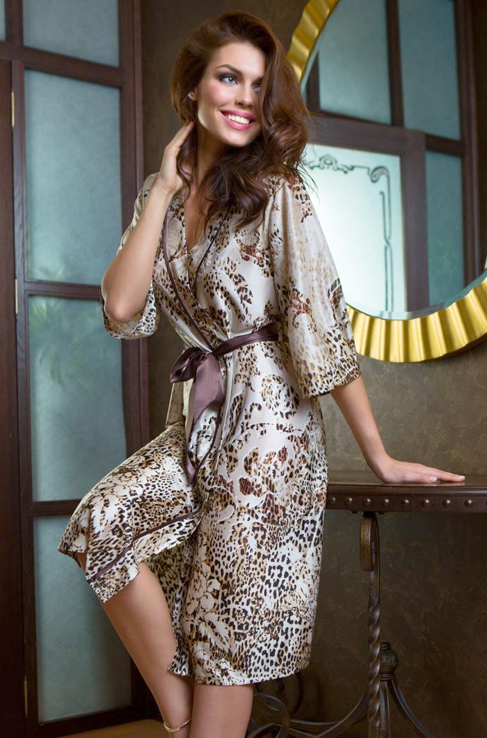 Домашние халаты Mia-Mia Домашний халат Cleopatra (L-xL) домашние халаты vivien домашний халат funny l