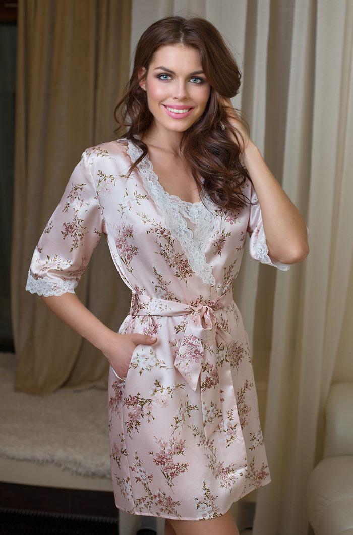 Домашние халаты Mia-Mia Домашний халат Luisa (M-L) домашние халаты mia mia домашний халат fiona l xl