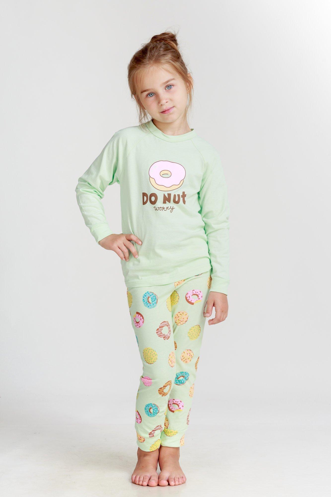 Детские пижамы Pastilla Детская пижама Лакомка Цвет: Ментоловый (7 лет) купить часы мальчику 7 лет