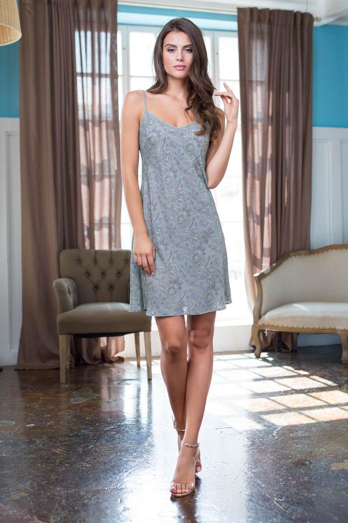 Ночные сорочки Mia-Mia Ночная сорочка Olivia Цвет: Голубой (M) ночные сорочки mia mia ночная сорочка cleopatra m