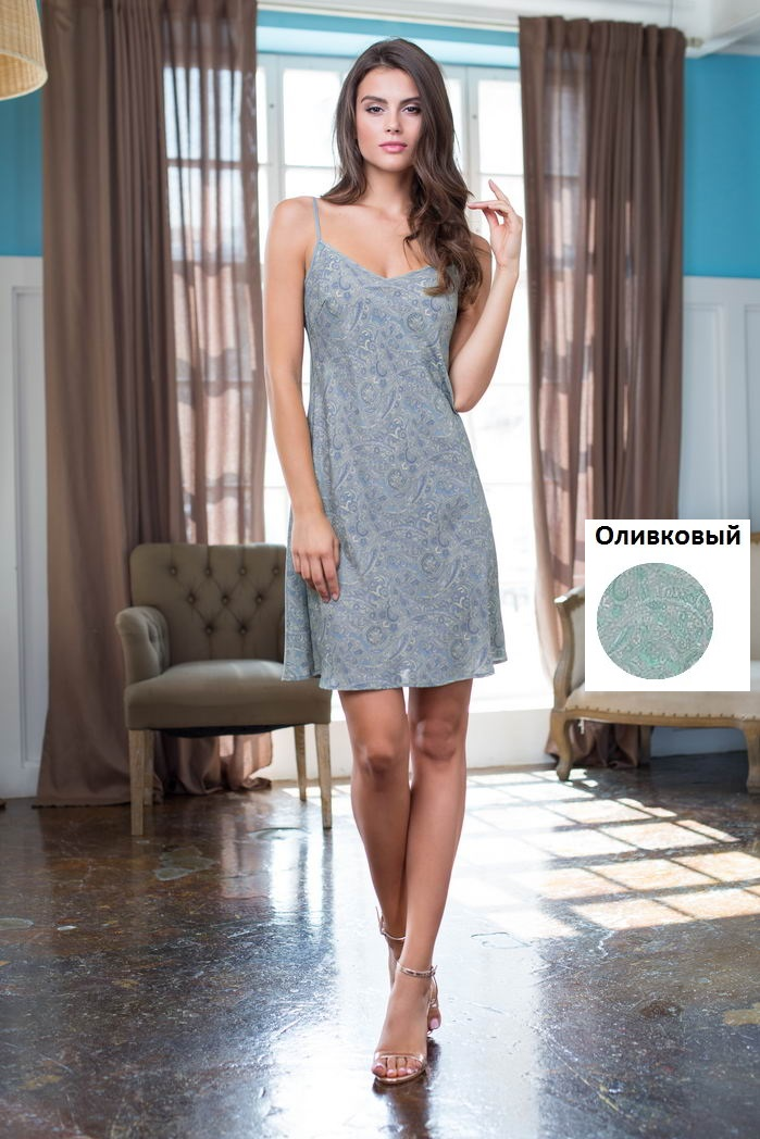 Ночные сорочки Mia-Mia Ночная сорочка Olivia Цвет: Оливковый (S) сорочка и стринги soft line mia размер s m цвет белый