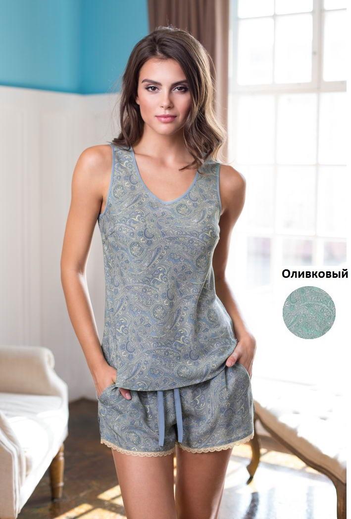 Пижамы Mia-Mia Пижама Olivia Цвет: Оливковый (xL) пижама женская футболка шорты mia cara portugal цвет слоновая кость бирюзовый aw16 mc 813 размер 50 52