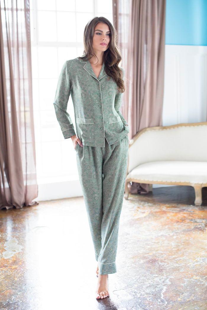 Пижамы Mia-Mia Пижама Olivia Цвет: Оливковый (M) пижамы mia cara пижама paisley цвет розовый m l