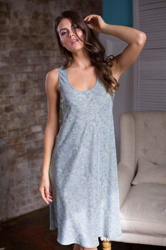 Ночные сорочки Mia-Mia Ночная сорочка Olivia Цвет: Голубой (xxxL) сорочка ночная для беременных и кормящих мамин дом мамин дом цвет голубой 24130 размер 48