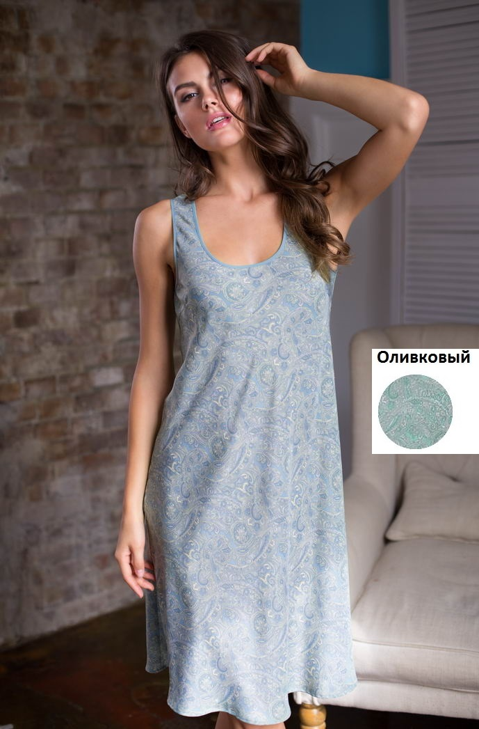 Ночные сорочки Mia-Mia Ночная сорочка Olivia Цвет: Оливковый (M) ночные сорочки mia mia ночная сорочка ladi in white m