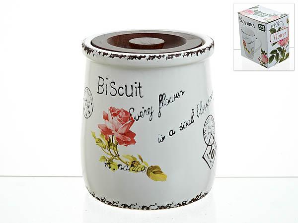 {} ENS GROUP Банка для сыпучих Flower (13х16 см) банка для сыпучих продуктов ens group тоскана 1 35 л