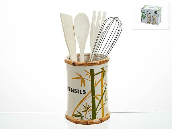 {} ENS GROUP Подставка для кухни Bamboo (10х15 см) емкости неполимерные ens group банка для сыпучих продуктов ens group мармелад 675 мл