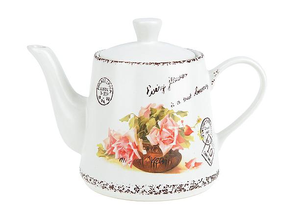 цены {} ENS GROUP Заварочный чайник Персиковая Роза (13х15х21 см)