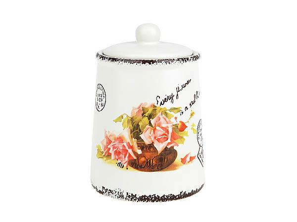 {} ENS GROUP Банка для сыпучих Персиковая Роза (10х14 см) банка для сыпучих продуктов ens group чайная роза 800 мл