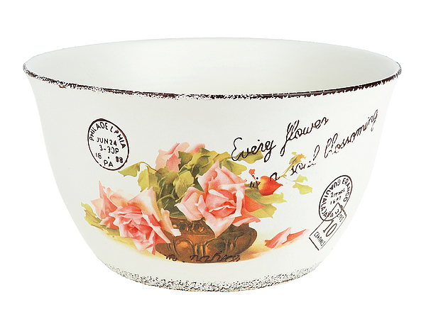 {} ENS GROUP Салатник Персиковая Роза (12х22 см) ens group банка для сыпучих персиковая роза 11х15 см
