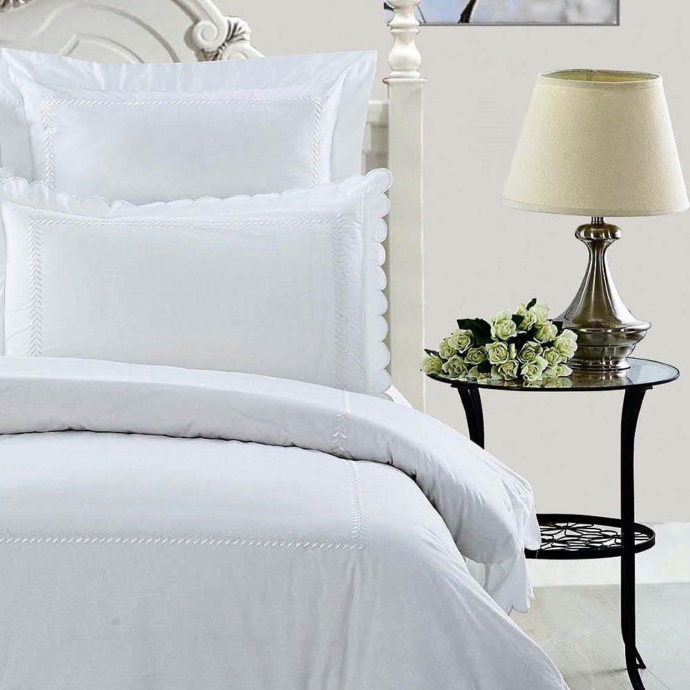 Постельное белье KingSilk Постельное белье Elba Цвет: Белый (семейное) постельное белье kingsilk rp 2 семейное