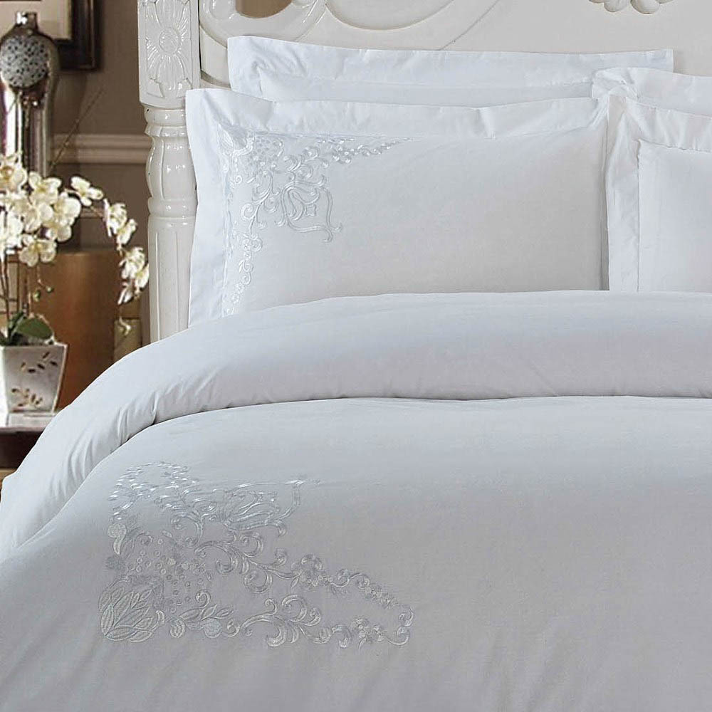 Постельное белье KingSilk Постельное белье Donella Цвет: Белый (семейное) постельное белье kingsilk rp 2 семейное