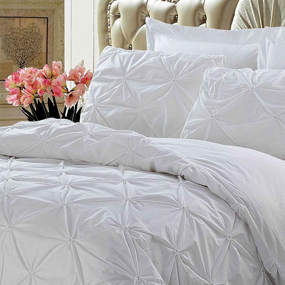 где купить Постельное белье KingSilk Постельное белье Chasity Цвет: Белый (семейное) по лучшей цене