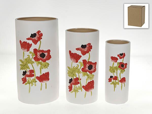 {} Gloria Garden Ваза Маков Цвет (Набор) ваза прямая цвет красный 51 см 2176628