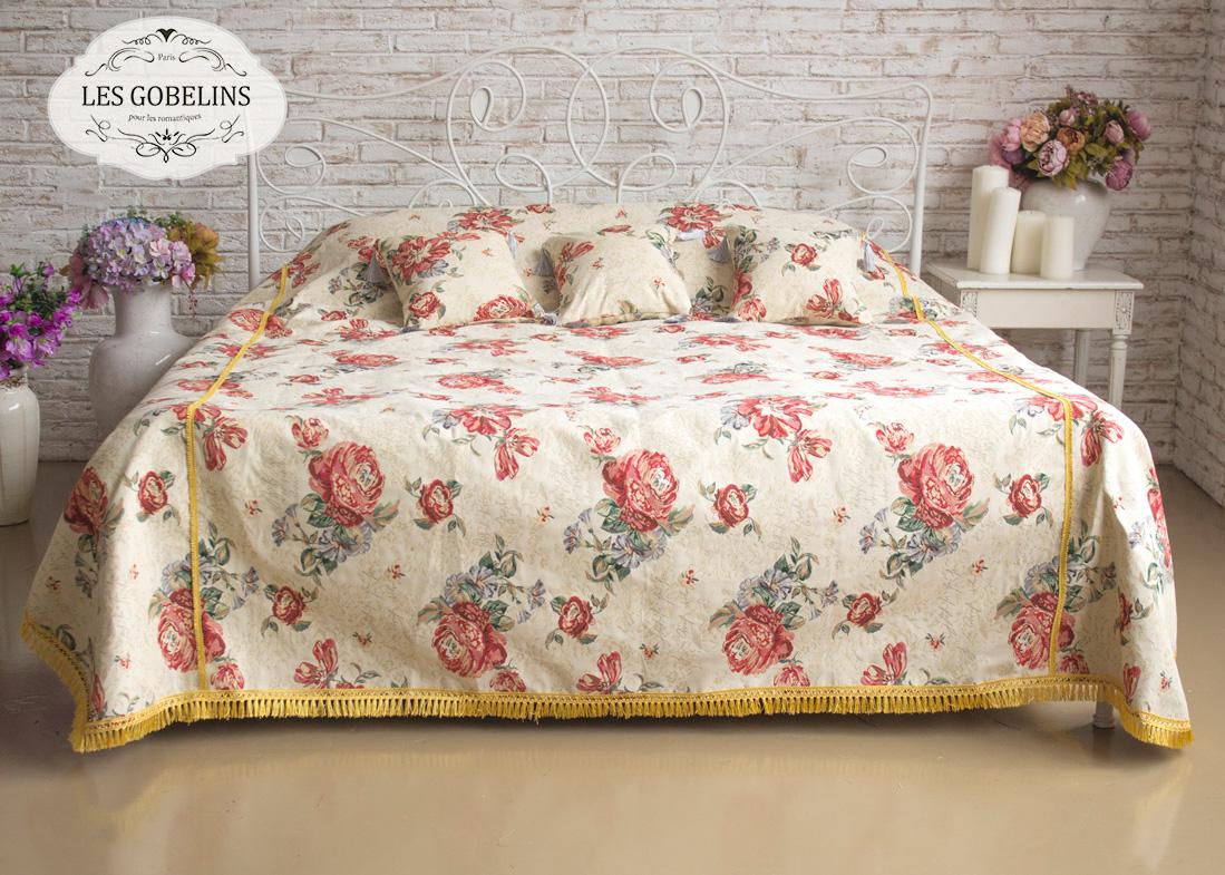 Покрывало Les Gobelins Покрывало на кровать Cleopatra (230х230 см) желтое покрывало на кровать