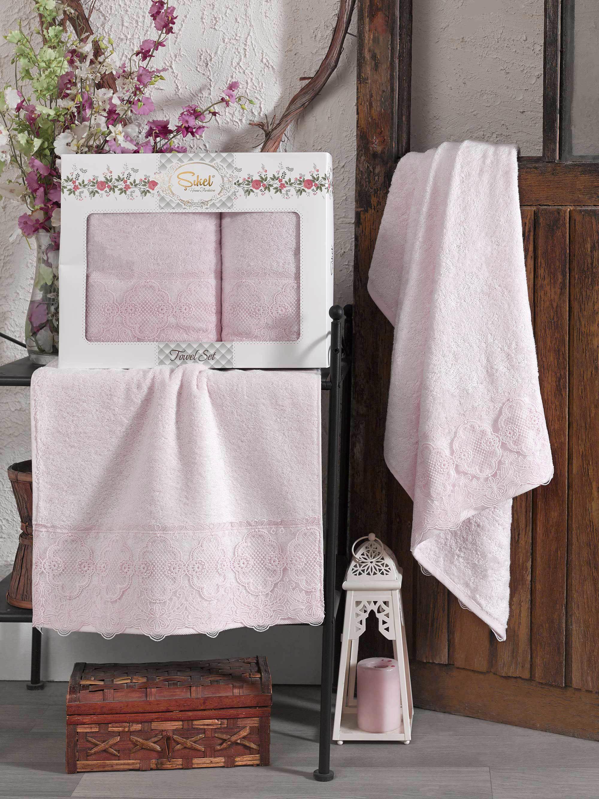 Полотенца Sikel Полотенце Solemare Цвет: Розовый (50х90 см,70х140 см) sikel набор из 2 полотенец nazande цвет коричневый