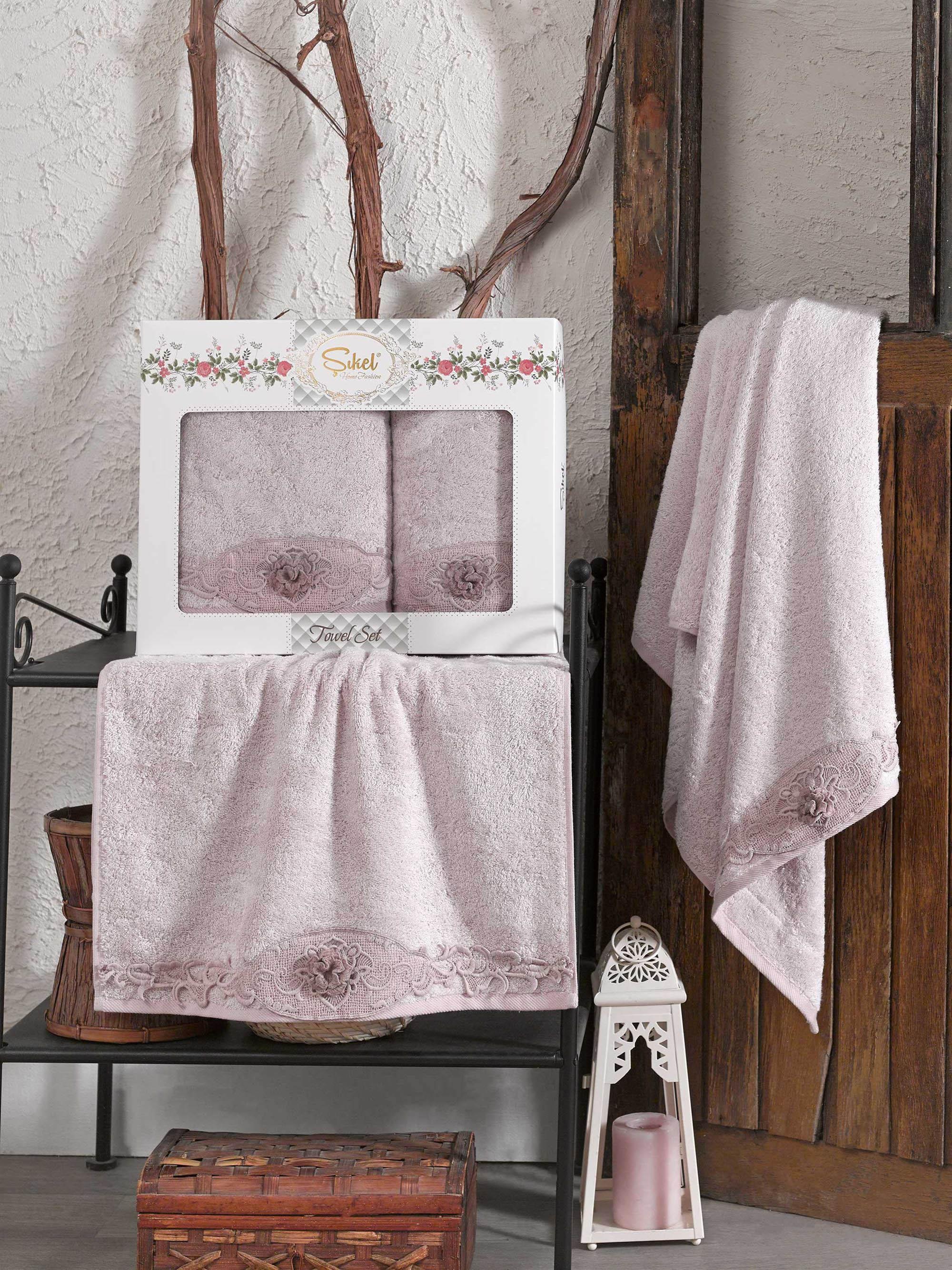 Полотенца Sikel Полотенце Afrodit Цвет: Лиловый (50х90 см,70х140 см) sikel набор из 2 полотенец nazande цвет коричневый
