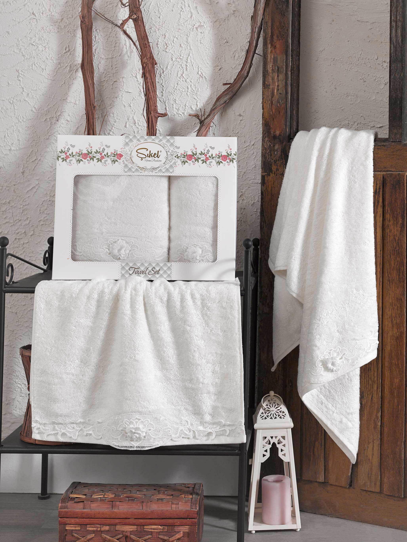 Полотенца Sikel Полотенце Afrodit Цвет: Кремовый (50х90 см,70х140 см) полотенца sikel полотенце kanevice цвет пудра 50х90 см 70х140 см