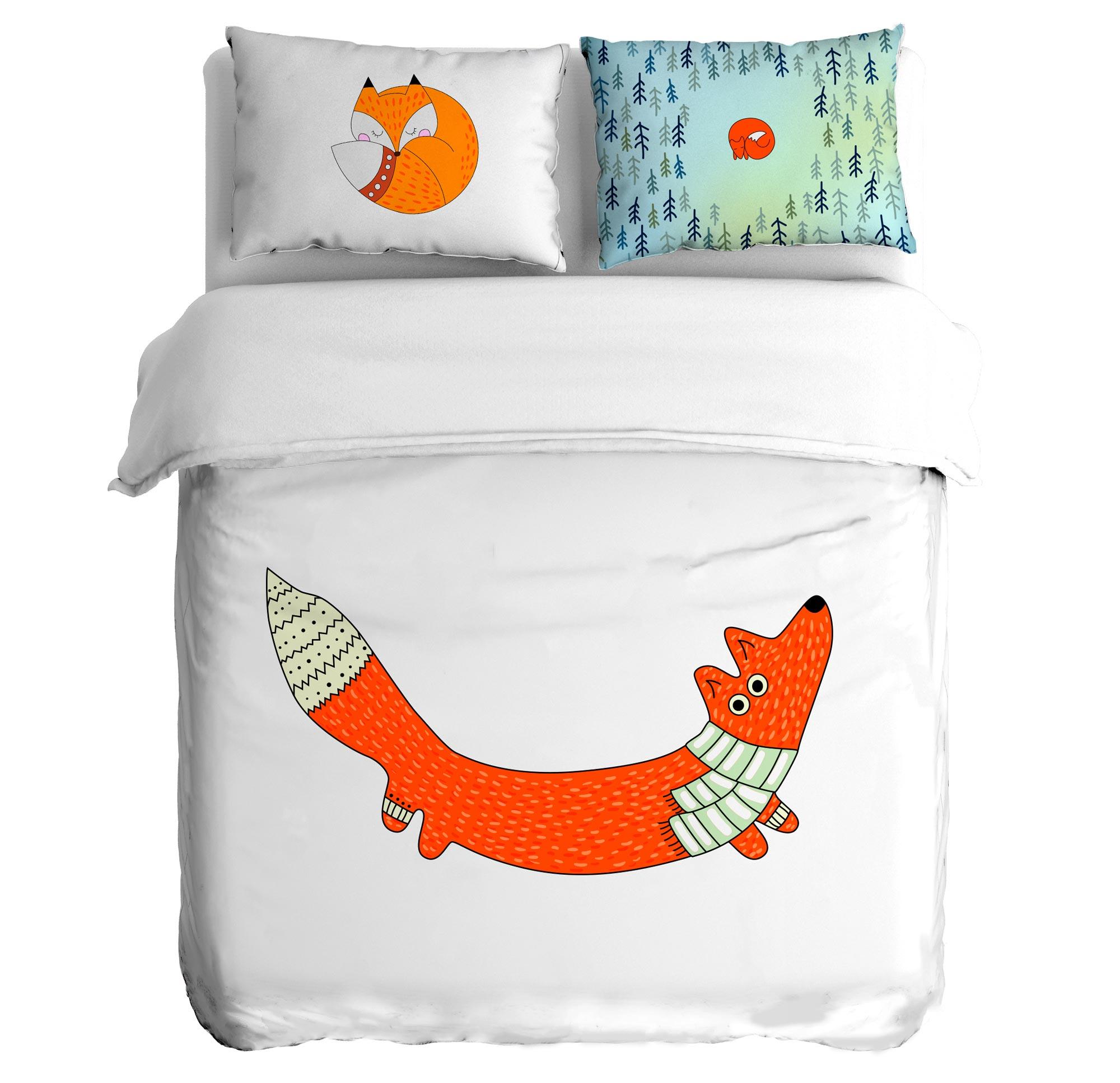 Постельное белье Peach Постельное белье Foxi trail (1,5 спал.)