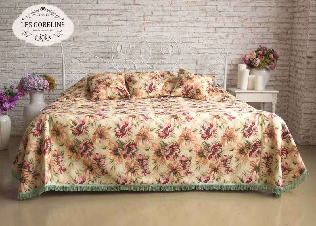 Покрывало Les Gobelins Покрывало на кровать Coquelicot (240х260 см) покрывало karna покрывало evony цвет пудра 240х260 см