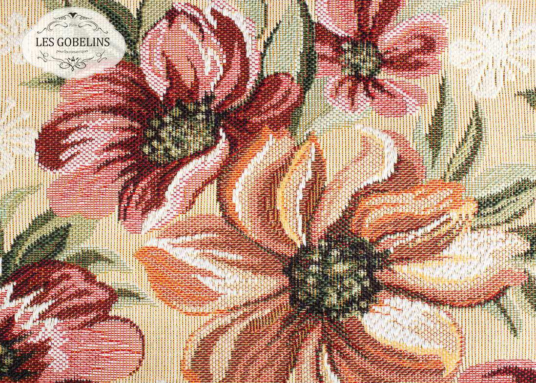 Покрывало Les Gobelins Накидка на диван Coquelicot (160х210 см)