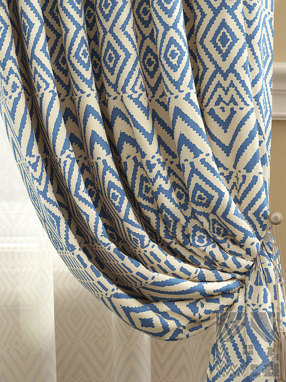 Шторы ТомДом Классические шторы Эйвуд Цвет: Синий