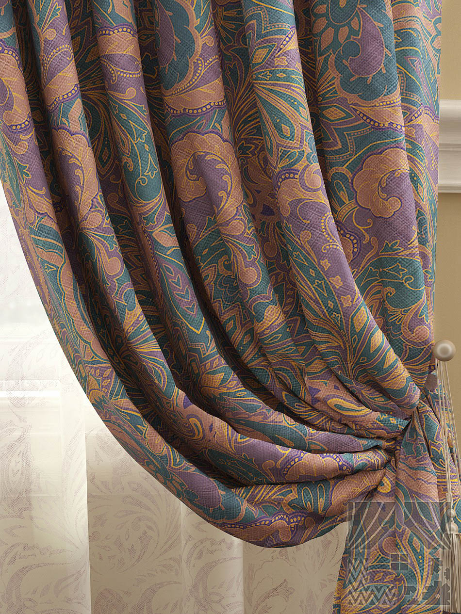 Шторы ТомДом Классические шторы Архелия Цвет: Фиолетово-синий шторы tac классические шторы winx цвет персиковый 200x265 см