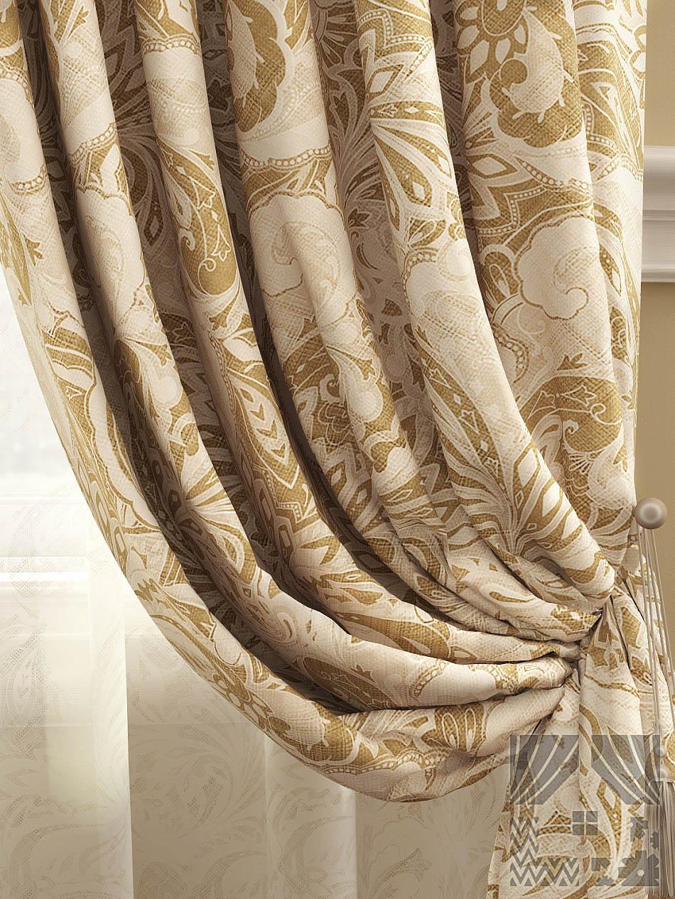 Шторы ТомДом Классические шторы Архелия Цвет: Бежевый шторы tac классические шторы winx цвет персиковый 200x265 см