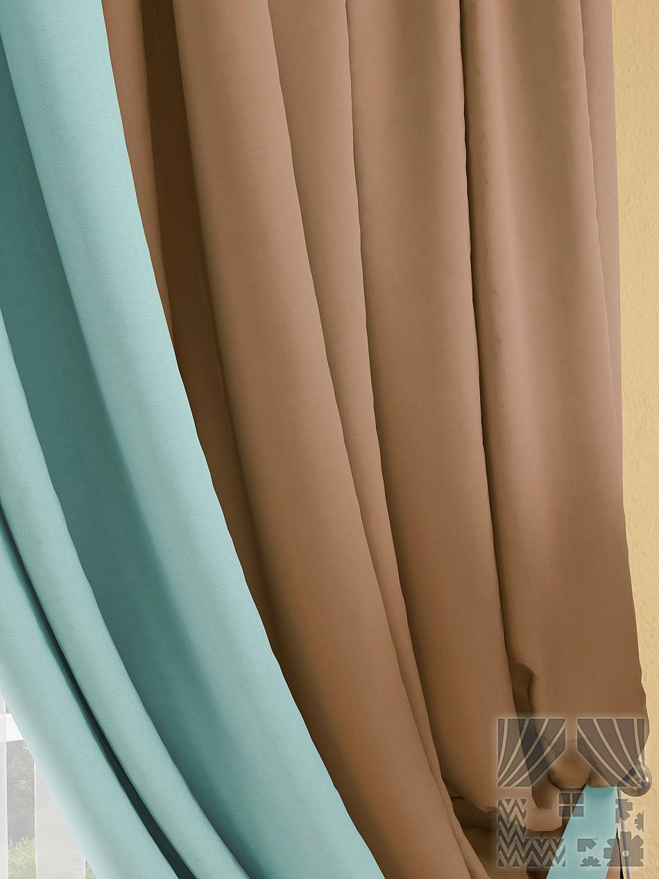 Шторы ТомДом Классические шторы Фонти Цвет: Коричнево-Бирюзовый шторы томдом классические шторы керид цвет бирюзовый